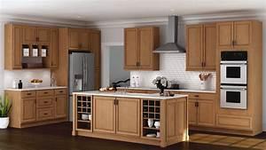hampton wall kitchen cabinets in medium oak 901