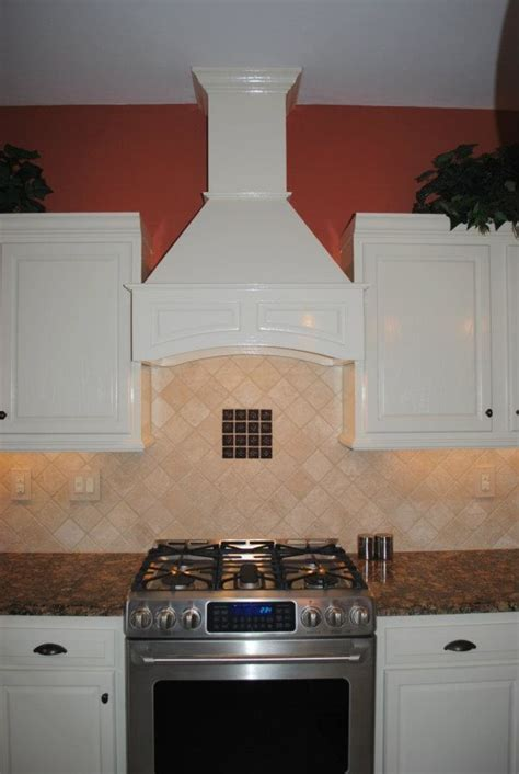 decorative range hoods Kitchen Mediterranean with