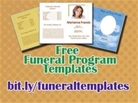 funeral program templates  printable funeral