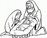 Jesus Coloring Pages Nativity Christmas Mary Holy Merry Printable Joseph Drawing Sheets Bestcoloringpagesforkids Santa Visit Others Popular sketch template