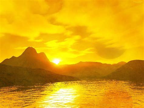 yellow  yellow sunset   hd wallpaper