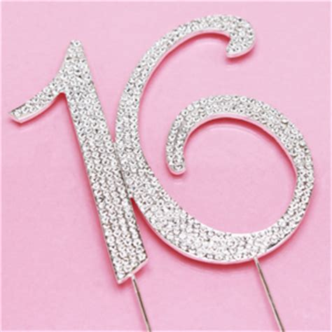 how to personalized gifts number 16 rhinestone cake topper sixteen favors