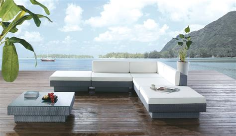 paeonia outdoor sofa set modern outdoor lounge sets