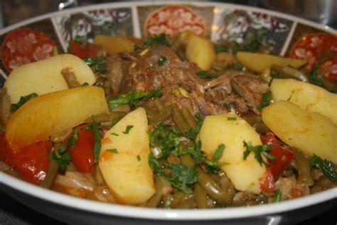 recettes algeriennes haricots verts