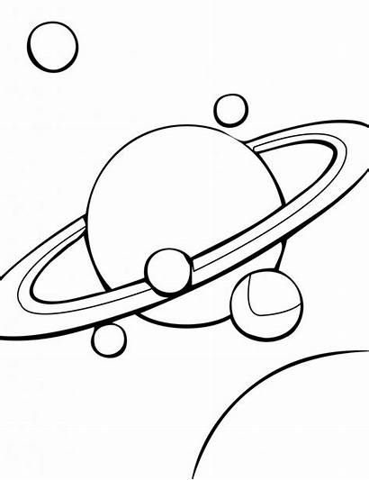 Coloring Solar System Pages Saturn Printable