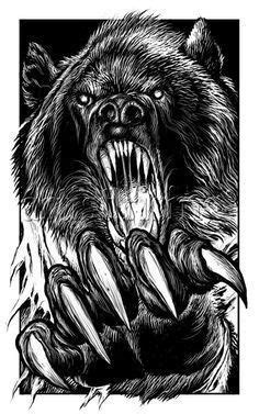 Pin by Quentonreweti on Polar, panda and Grizzly Bears   Bear tattoos, Werewolf