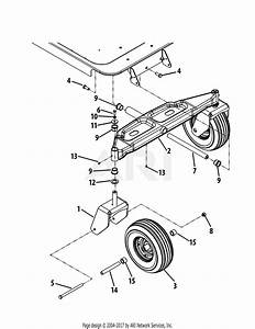 Troy Bilt 17wf2acp011 Mustang Xp  2012  Parts Diagram For Front Axle  50