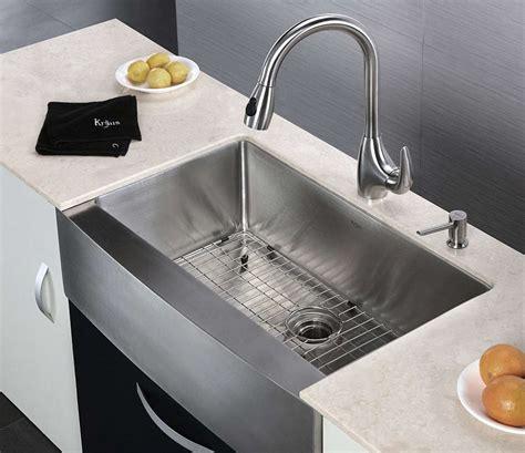 farmhouse stainless steel kitchen sink stainless steel kitchen sinks guide the kitchen 8914