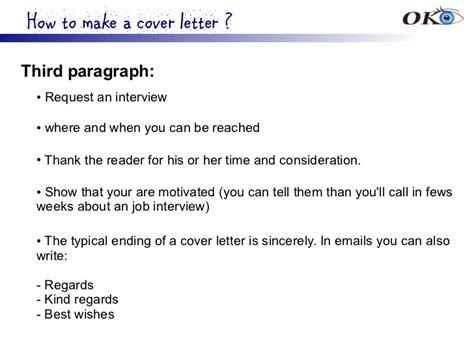 cover letter third paragraph