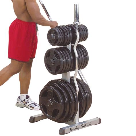 body solid olympic weight disc plate tree barbell bar rack storage holder ebay