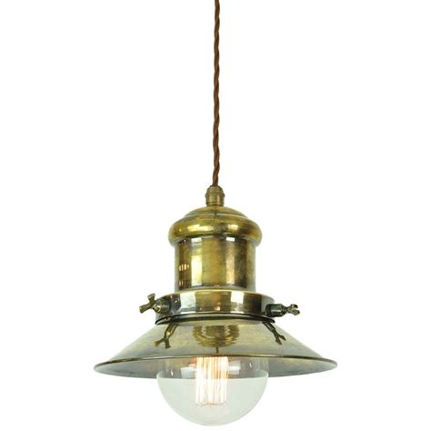 modern light fixtures for dining nautical style ceiling pendant in aged brass with vintage bulb