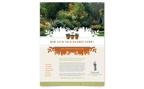 landscape garden store flyer template design