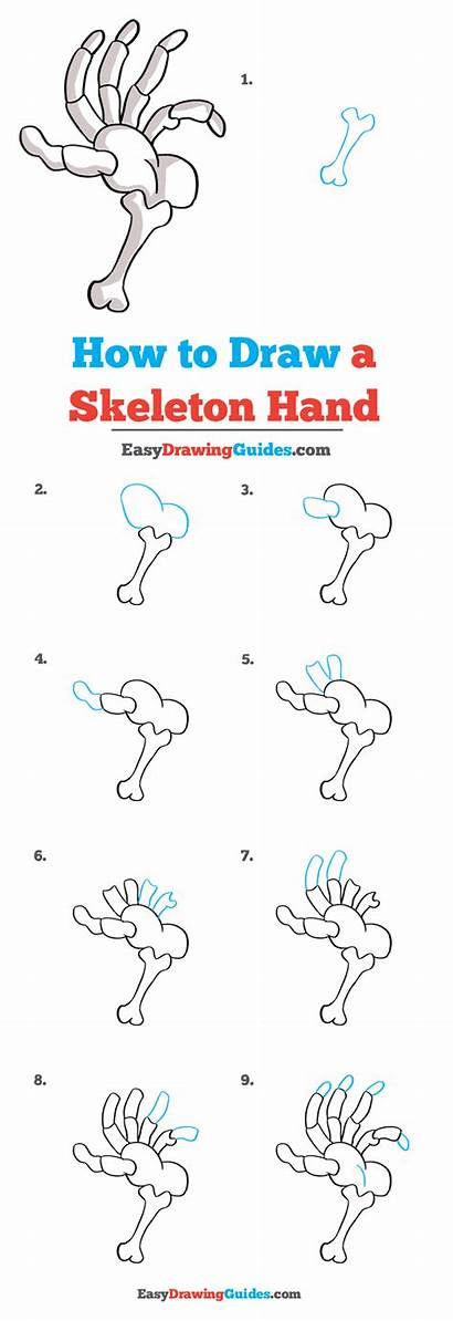 Skeleton Hand Draw Drawing Tutorial Complete Easy