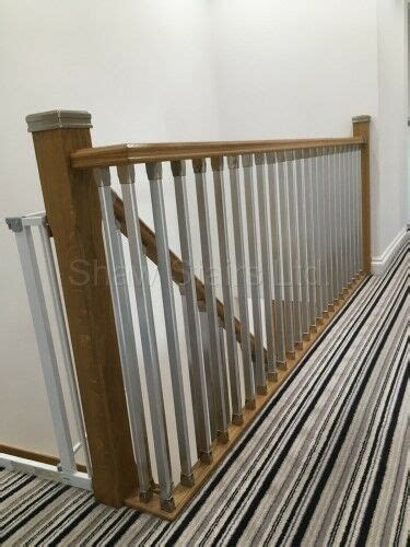 chrome banisters staircase solution stair parts refurbish landing kit