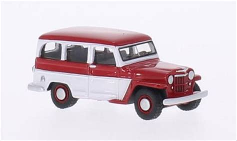 jeep wagon 2016 jeep willys station wagon rot weiss 1954 mcw modellauto 1