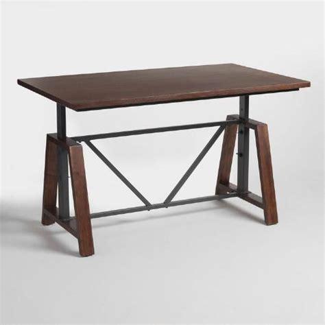 Wood Braylen Adjustable Height Work Table  World Market. Blue Ottoman Coffee Table. Desk Top Clock. Free Computer Desks. Silver Computer Desk. 6 Folding Tables. Ava Wood Desk. Cherryman Desk. Cheap Student Desk And Chair Set