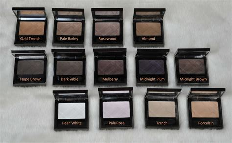burberry eyeshadows swatches    review sweet
