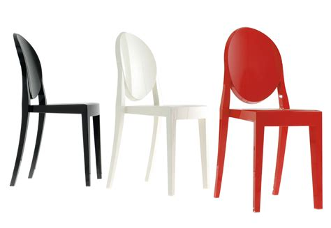 kartell chaises chaise empilable ghost opaque polycarbonate