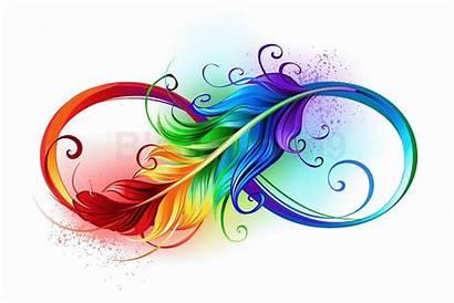 Feather Tattoo Tattoos Rainbow Drawing Pride Infinity