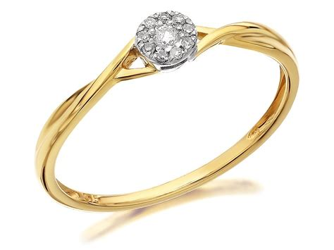9ct gold twist cluster ring 5pts d6082 f hinds jewellers