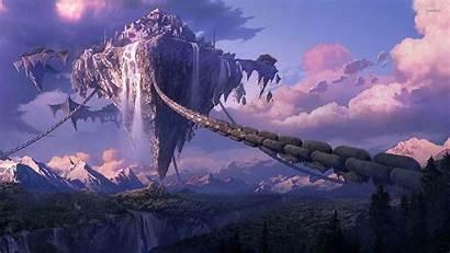 Floating Fantasy Island Mountain