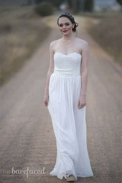 rachel gilbert wedding gown  barefaced bride