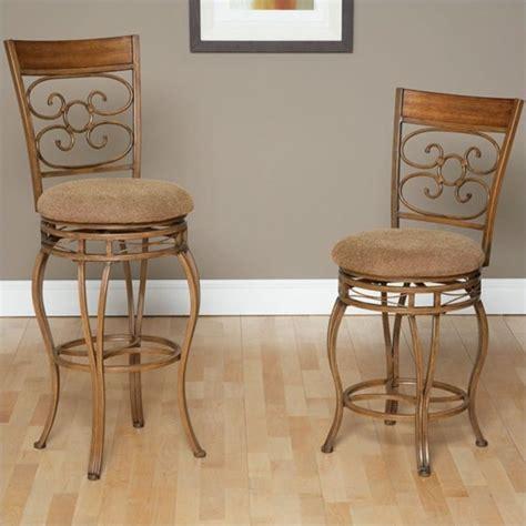 oak counter stool largo furniture swivel stool in light bronze and 1131
