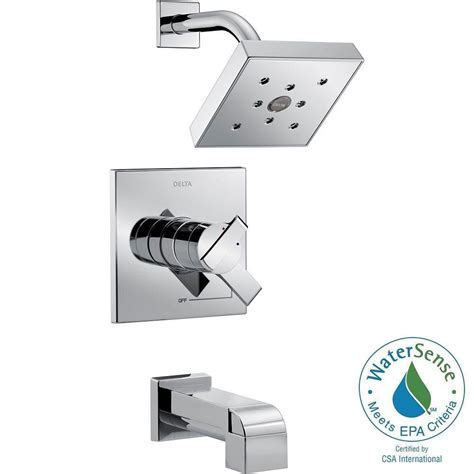 delta ara 1 handle h2okinetic tub and shower faucet trim