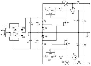 Symmetrical Regulated Power Supply Variable