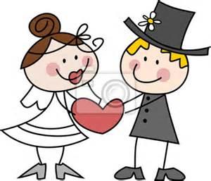 wedding cake quiz fotobehang tekening grappige bruid en bruidegom