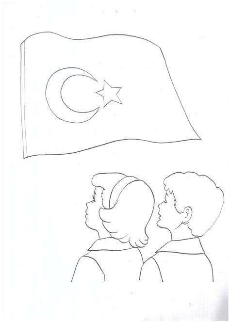 Dalgali Bayrak Boyama Sayfasi Coloring Free To Print