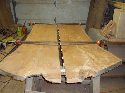 edge nakashima style cherry slab dining table top bench  texpenn  lumberjockscom