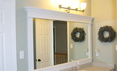 How To Frame Bathroom Mirrors by Of Great Ideas Framing A Builder Grade Mirror That