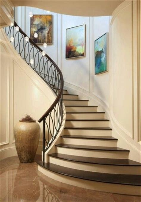 curved staircase ideas  pinterest marble