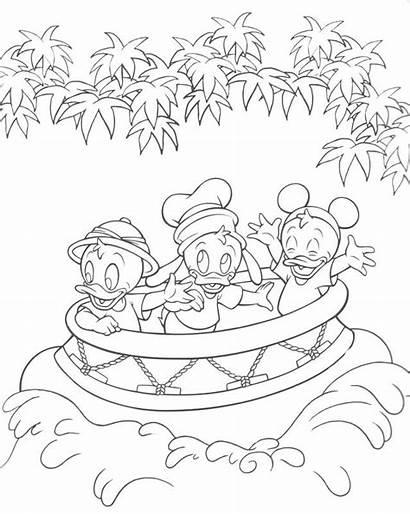 Coloring Disney Pages Disneyland Castle Walt Kingdom