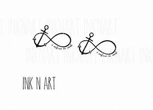 Anker Tattoo Handgelenk : 2pcs anchor infinity loop i refuse to sink quote tattoo por inknart tatuaje pinterest ~ Frokenaadalensverden.com Haus und Dekorationen