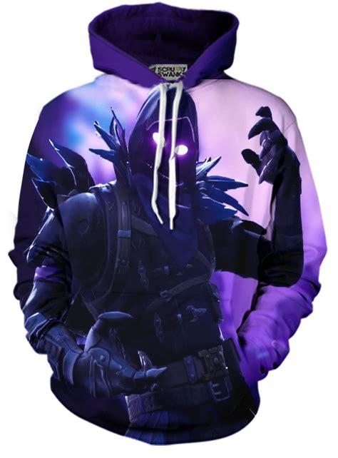 custom crafted fortnite raven print pullover hoodies