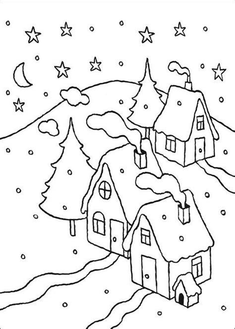 disegni  paesaggi invernali da colorare disegni da