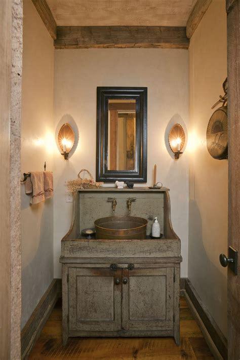 Rustic Small Bathroom Vanities  Wonderful Blue Rustic