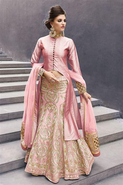 indian designer clothes lenghas with dual cholis buy pink indian