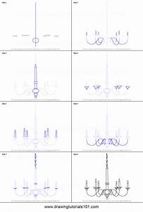 How to Draw a Chandelier printable step by step drawing ...