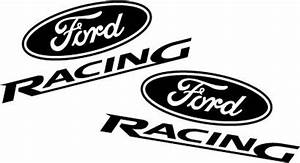 Ford Racing Decal Set - Flat Black - LMR.com