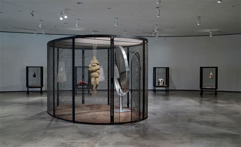 Louise Bourgeois' Cell works at Guggenheim, Bilbao