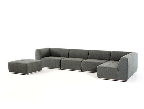 Contemporary Fabric Sofas by Contemporary Grey Fabric Sectional Sofa Vg388 Fabric