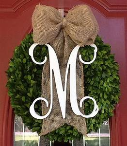 best 25 boxwood wreath ideas on pinterest green wreath With faux boxwood letter wreath