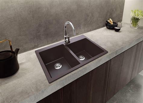 lowes composite granite kitchen sinks ruvati 33 x 22 inch epigranite dual mount granite 9073