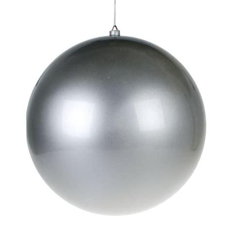 silver metallic finish shatterproof bauble single 400mm