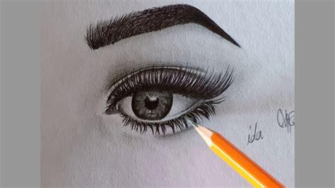 Draw eye/วาดตาสวยเหมือนจริง - YouTube
