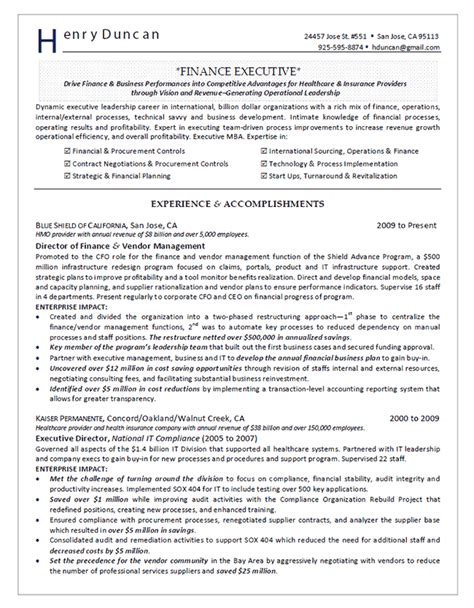 director  finance resume