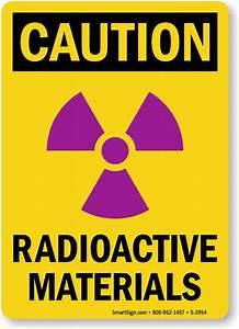 Radioactive Material Signs | Radioactive Substance Warnings